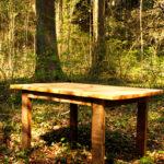 Tisch, Esche Braunkern, Beine gebürstet