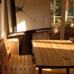 Tisch Esche Braunkern, Gratleiste, Zargentisch, Lichtenberg - Strombrand,